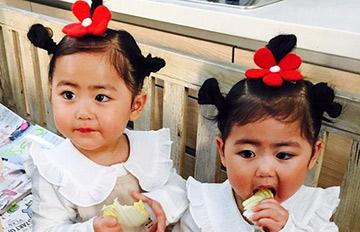 從小就是美人胚子 圓嘟嘟的雙胞胎名人