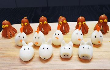 【愛不釋口】 野餐的小兔與小豬:鵪鶉蛋