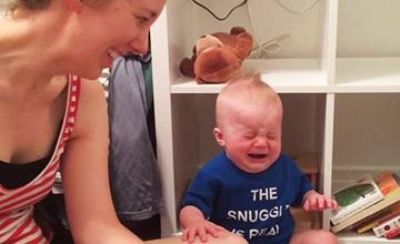 這孩子一秒大哭的理由,看完你竟然會大笑