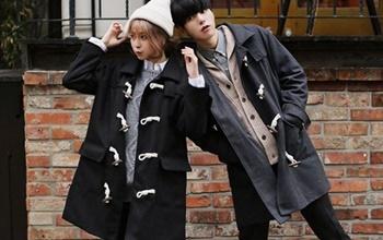 冬季牛角釦大衣穿搭提案♥多了它就變得更可愛呢!