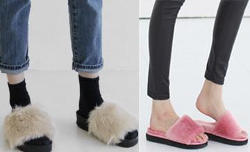 誰說拖鞋只能在室內穿 韓國超夯毛毛拖鞋讓你在街頭也有時尚感