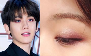 愛他就跟他畫同款眼妝 新的一年就用伯賢的紫色眼妝開運吧!