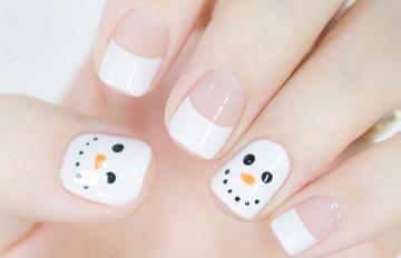 韓妞美甲偷偷學:可愛的雪人