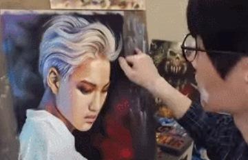 從雪炫到EXO,韓國神手畫家的作畫過程太衝擊!