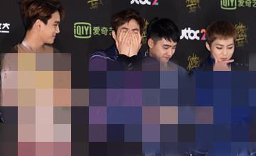EXO金唱片紅毯一秒驚呆,網友:一定得罪造型師