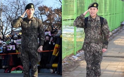 """經過1年9個月""""歐霸們""""回來了!JYJ金在中、Super Junior晟敏今天退伍"""