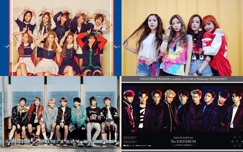 "SM、JYP、YG等32間經紀公司的代表選出的""現在最大勢的男女團TOP5""名單真的完全不意外啊!"
