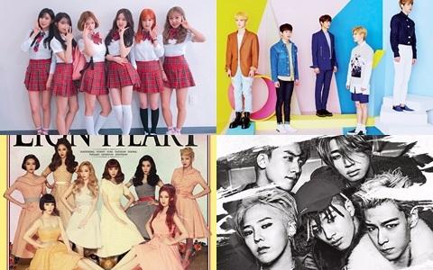 """第二彈!SM、JYP、YG等32間經紀公司的代表選出的""""現在最大勢的男女SOLO歌手TOP5""""都是大家認證的實力派偶像!"""