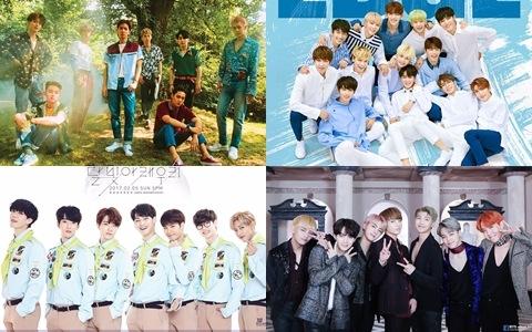 第一名竟大贏第十名的男團55萬張唱片!?2017年男團的唱片「首週銷售量」TOP10