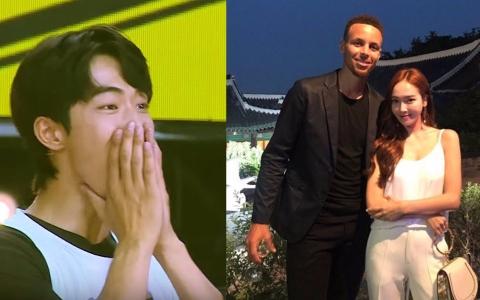 南柱赫見NBA巨星Curry 竟化身「超萌迷弟」尖叫 潔西卡和他合照也藏不住喜悅 直呼「你終於來了」羨煞所有人