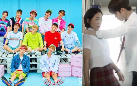 Wanna One《三分鐘男友》心動破表 成員壁咚女演員 讓粉絲大喊「放開那女孩」