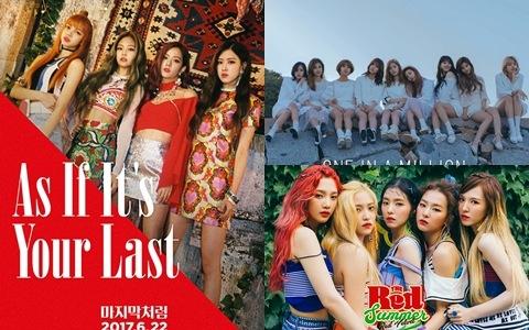 新一代女團中音樂節目成績最好的是?韓網整理的大勢女團「音樂節目一位次數排名」第一名當然是...