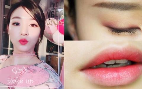 學會今年夏天韓妞流行的「桃花妝」♥♡保證歐巴一見心動