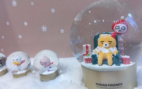 韓國人好幸福 限定版「聖誕KAKAO水晶球」送禮必備