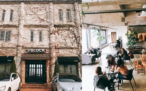 韓國年輕CP約會聖地❤超大窗外就是無敵江景!三層樓香草系咖啡廳9 BLOCK