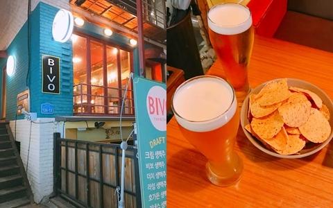 週末想與好友們小酌一杯嗎?隱身弘大巷子內的復古啤酒屋!