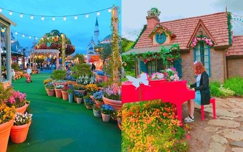 愛寶樂園竟然也能這麼美!韓國人超愛的鬱金香季來啦