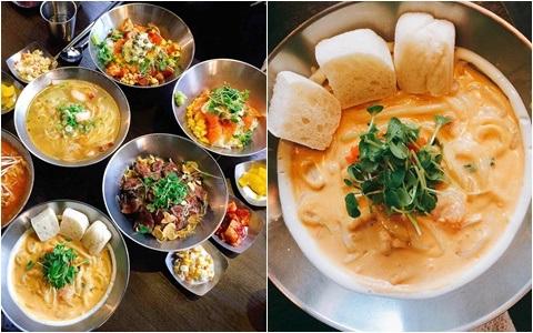 弘大款式超級多的西式人氣蓋飯及麵線,誰說吃蓋飯一定要到日式餐廳的?