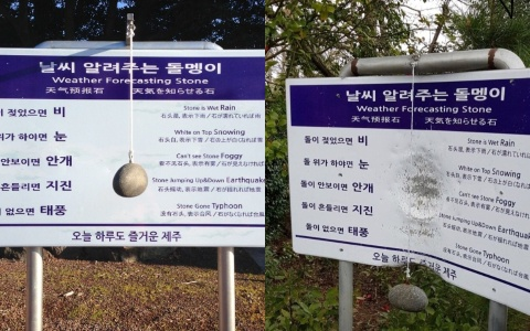 韓國有一顆會預報天氣的石頭?颱風過後的慘況被25萬人轉發