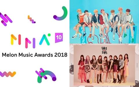 《2018 Melon Music Award》 MMA TOP 10 名單公布!防彈少年團確定出席!