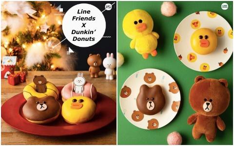 可愛到捨不得吃~Line Friends和Dunkin' Donuts推出聯名甜甜圈!