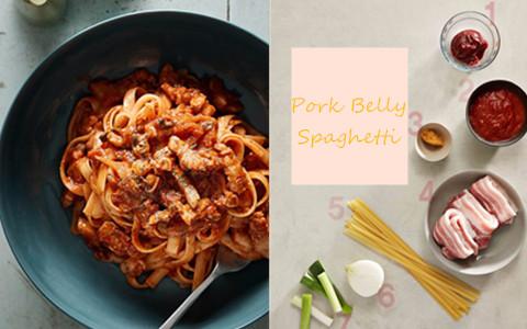 海鮮意麵、奶油意麵已經吃膩了?韓國餐廳熱賣的五花肉意麵食譜