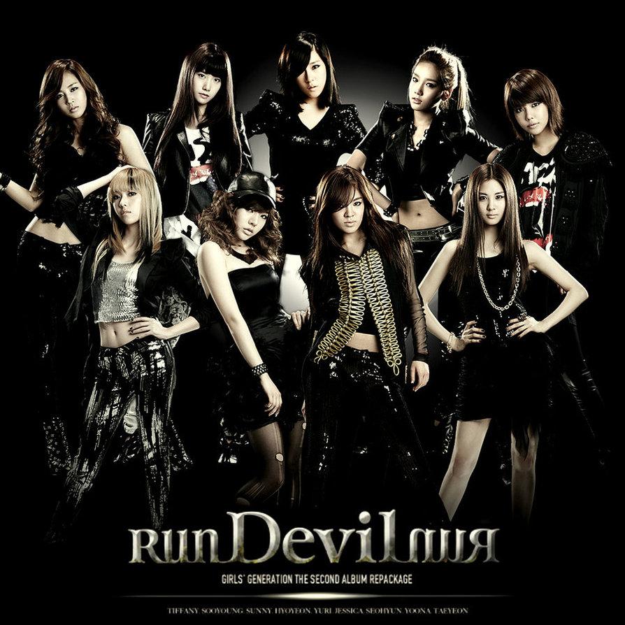 少女時代《Run Devil Run》(2010/3/17發行)  重製KE$HA惡女凱莎《Run Devil Run》(未正式發行)  *這首歌由美國的創作者創作後,KE$HA只錄了Demo(示範帶)並未發行 後來這首歌被SM買去給少女時代唱