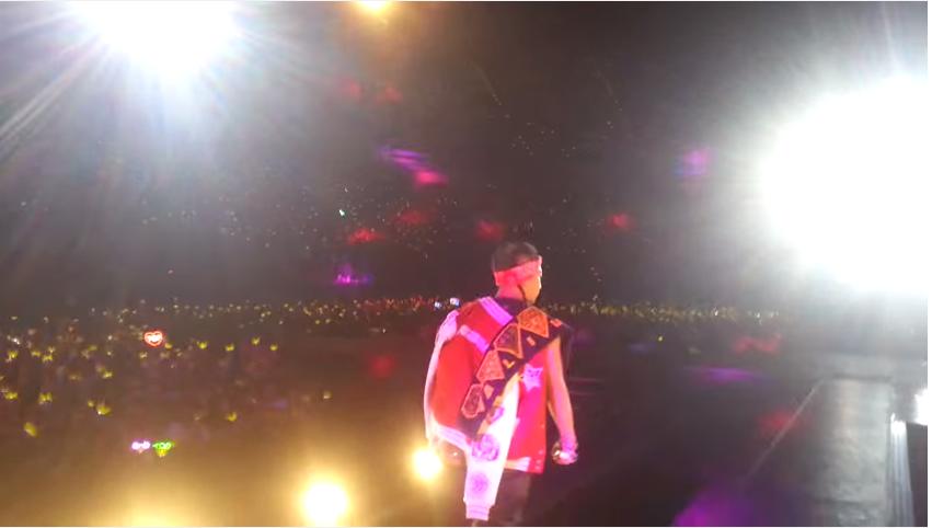 原來BIGBANG都是這樣看我們der~~ 搖滾區好清楚啊啊啊~