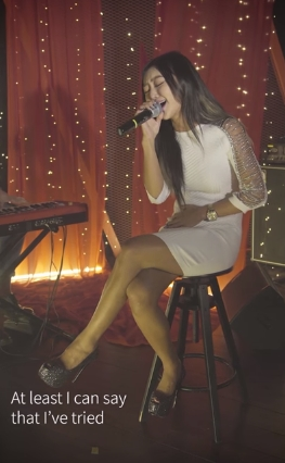 後來孝琳在PIKI獨家唱了Adele的〈Hello〉!!