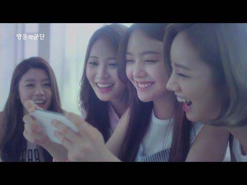 Girl's Day還接拍了手機遊戲的廣告XDDD