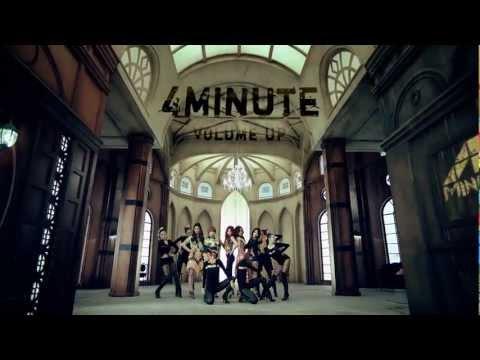 4Minute Volume Up 比起男團的黑暗風~4米尼已經算是明亮又漂亮的了~5人也是變身吸血鬼~前面紅色瞳孔雖然可怕但好美啊~