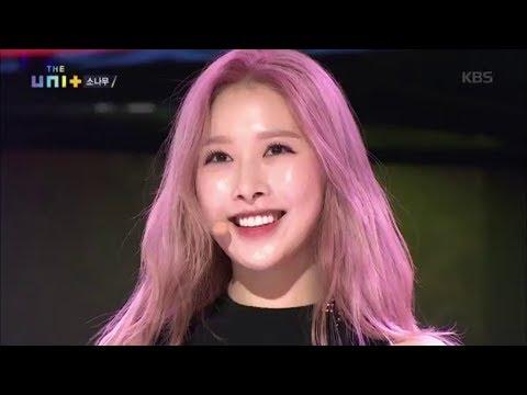 她首個舞台是泫雅的《bubble pop》,性感又帶點可愛,而她也成功成為主題曲的女生中心位置!