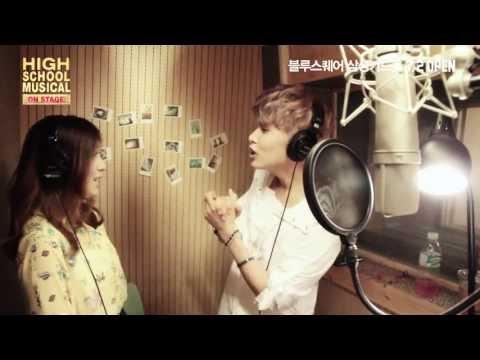 音樂劇的男女主角通常是多人輪番飾演的,而在《歌舞青春》裡,最有名的一對就是F(X)的LUNA與SJ的厲旭啦!韓文版的《Start Of The Something New》有另外一種感覺呢~他們絕對就是韓國版的Gabriella與Troy!
