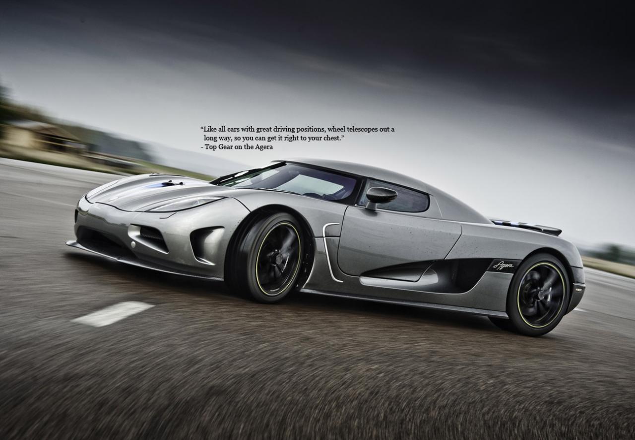 柯尼塞格ageraR, 來自瑞典, 百公里加速時間3.1秒! 售價約170萬美元!! 擁有超跑中最輕的車身, 如瀟灑俊逸的王子, 擁有向王者挑戰的潛力!! (不要小看它! 這台可是傳說中的黑馬喔!)