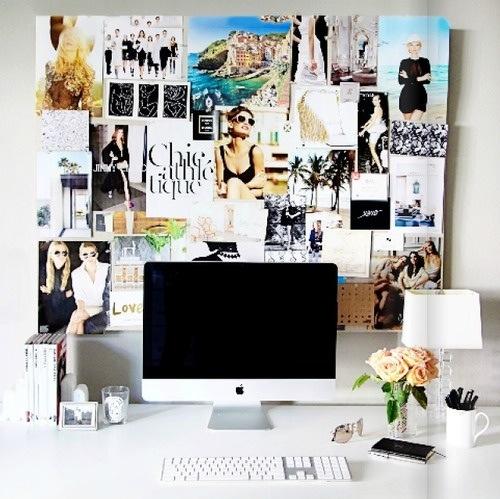 一種fashion magzine小編書桌的氣勢