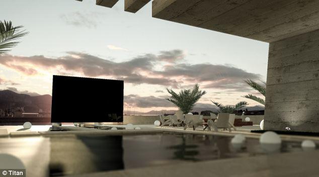 英國廠商製作全世界最大電視 長8公尺、寬5公尺的370吋電視具備650億畫素 售價為100萬英鎊,相當於台幣5000萬元