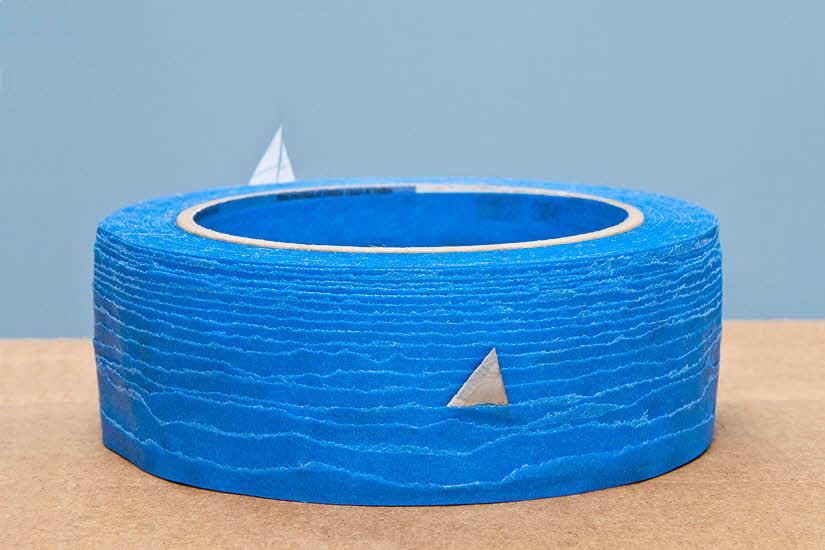 紙膠帶的藍色海洋