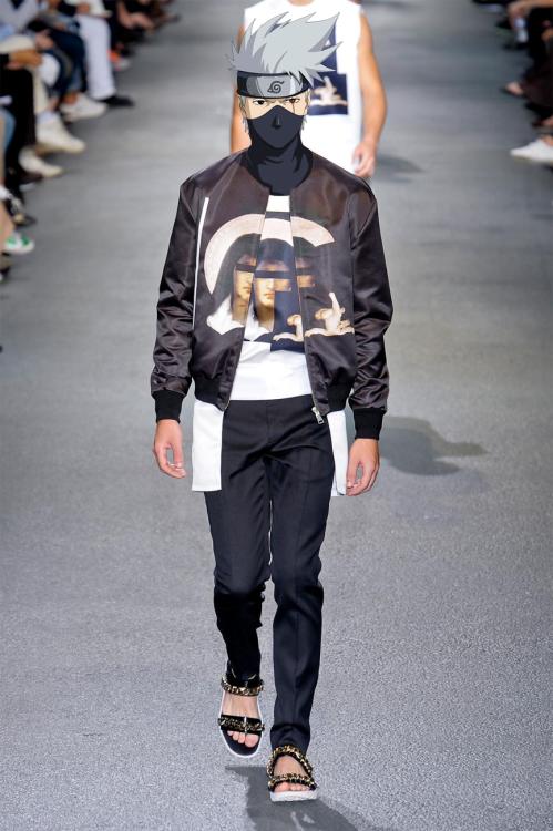 #卡卡西 in Givenchy  by Riccardo Tisci spring-summer 2013