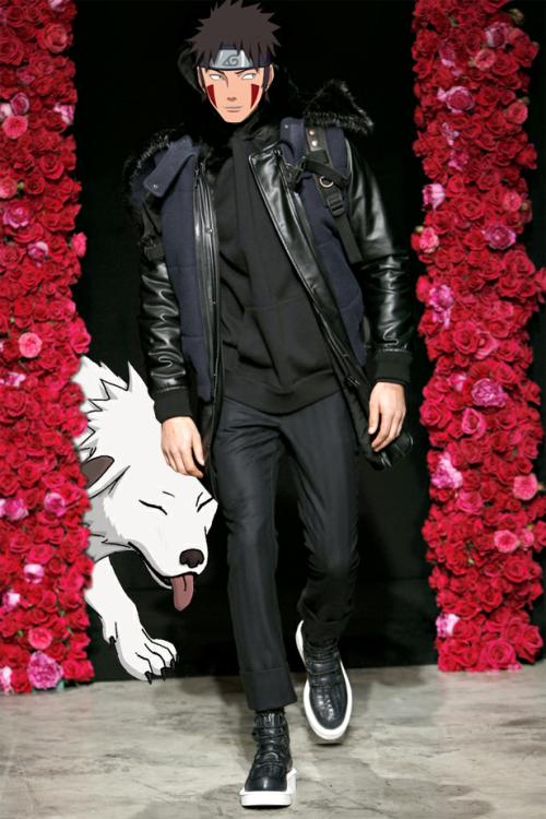 #犬塚牙 in Givenchy with Akamaru