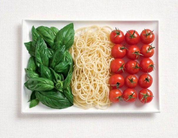 2. 義大利 - 羅勒、義大利麵、番茄
