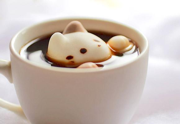 其實這是日本推出的咖啡喵咪棉花糖