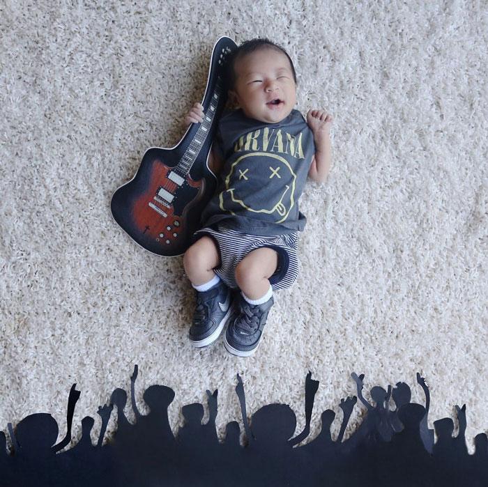 #. 未來的搖滾歌星 好像跳起來的場面!!表情配合超到位!