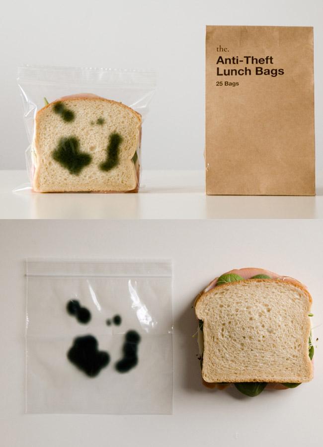 9. 不要碰我的三明治 防止被盜的方法 可是吃的人看到會不會也沒食慾了?