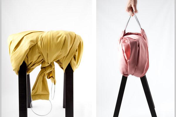 16. 椅子包裝 提起來就像一個手提袋 特別適合爺爺奶奶夏天提著出去乘涼用