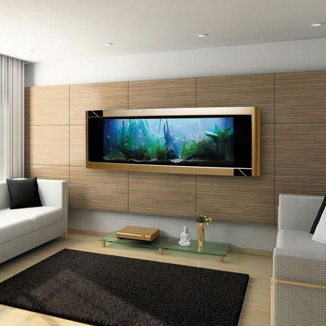 #1 嵌入強壁內水族箱 是畫、是電視、還是牆呢