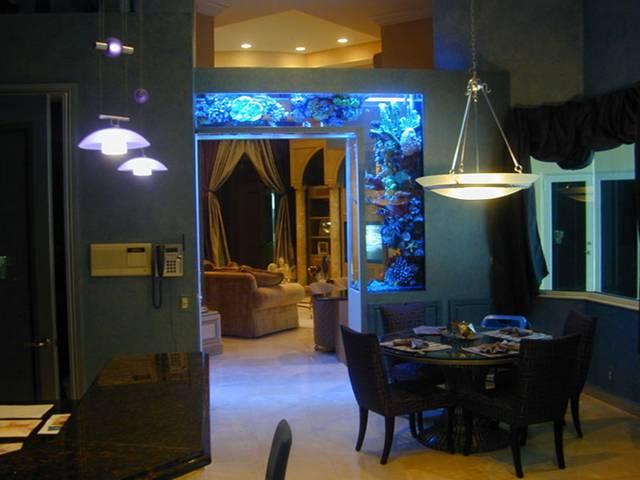 #14 用水族箱隔開客廳與廚房 但不是用屏風的概念~而是做一個小門