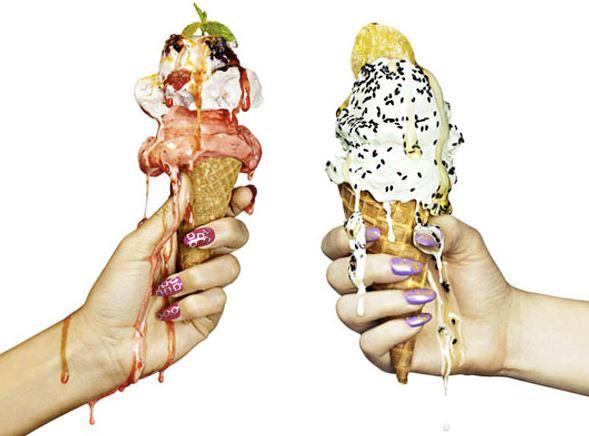 冰淇淋含脂肪,也是它不會冰起來的原因