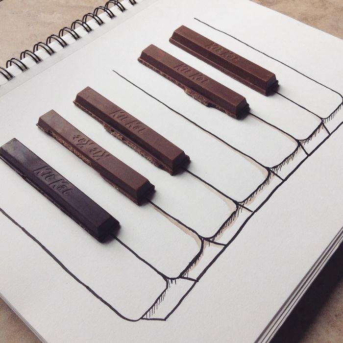#巧克力棒鋼琴鍵