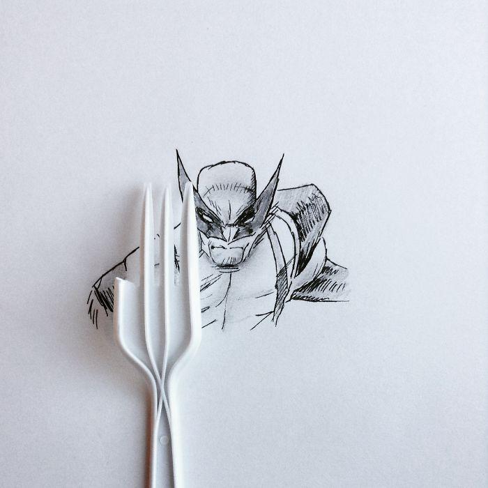 #金鋼狼叉子