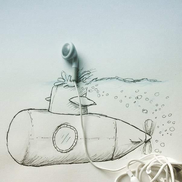 #耳機潛水艇